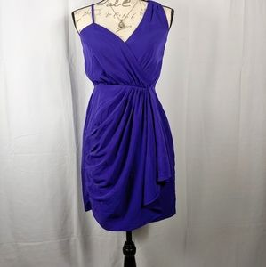 NWOT EXPRESS Semi Strapless Royal Grecian Cocktail